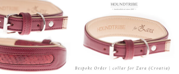 borzoi handcrafted leather collar